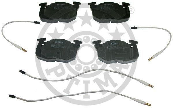 Kit de plaquettes de frein, frein à disque - OPTIMAL - 9762