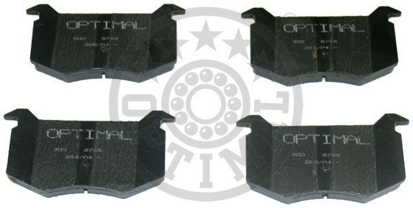 Kit de plaquettes de frein, frein à disque - OPTIMAL - 9765