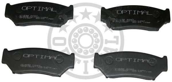Kit de plaquettes de frein, frein à disque - OPTIMAL - 9767