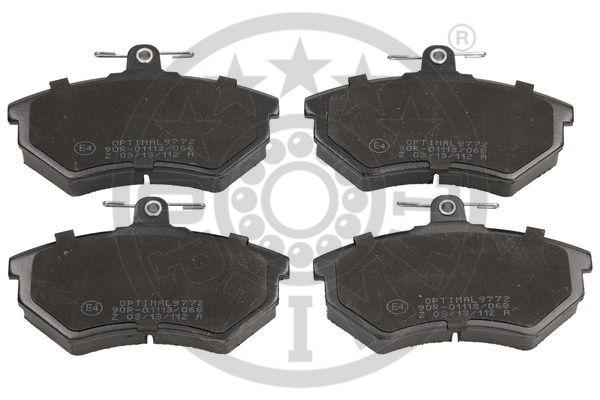 Kit de plaquettes de frein, frein à disque - OPTIMAL - 9772