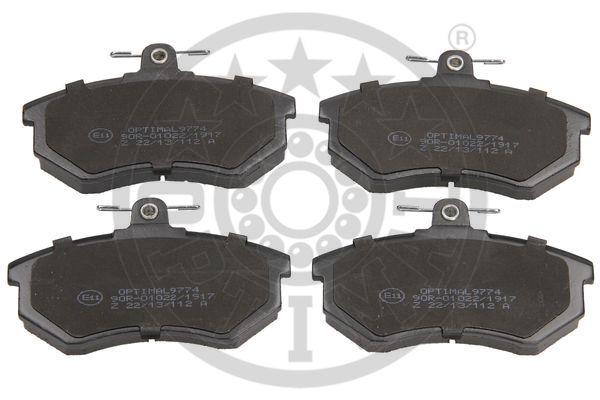 Kit de plaquettes de frein, frein à disque - OPTIMAL - 9774
