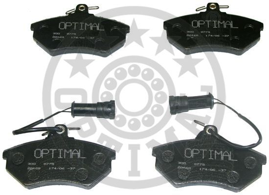 Kit de plaquettes de frein, frein à disque - OPTIMAL - 9775