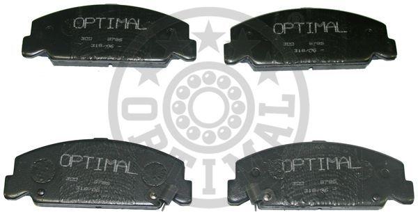 Kit de plaquettes de frein, frein à disque - OPTIMAL - 9786