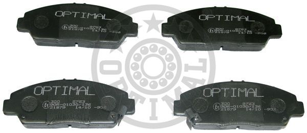 Kit de plaquettes de frein, frein à disque - OPTIMAL - 9793