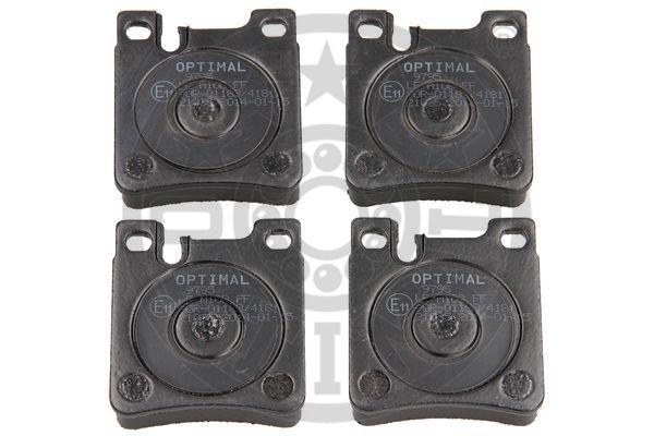 Kit de plaquettes de frein, frein à disque - OPTIMAL - 9795