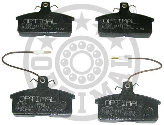 Kit de plaquettes de frein, frein à disque - OPTIMAL - 9798