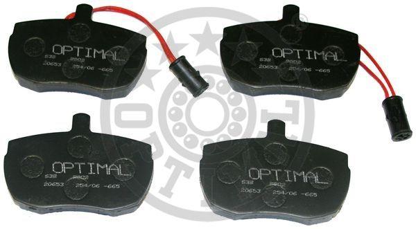 Kit de plaquettes de frein, frein à disque - OPTIMAL - 9802