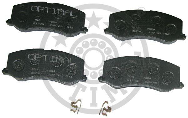 Kit de plaquettes de frein, frein à disque - OPTIMAL - 9804