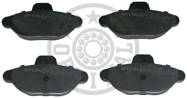Kit de plaquettes de frein, frein à disque - OPTIMAL - 9810