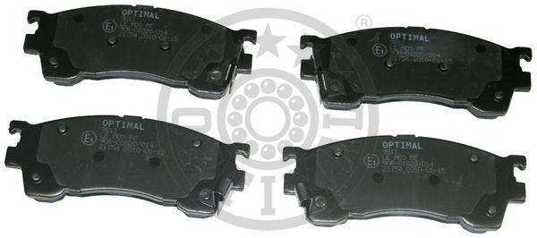 Kit de plaquettes de frein, frein à disque - OPTIMAL - 9811