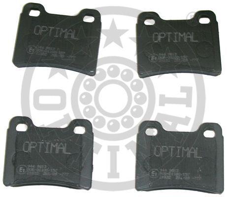 Kit de plaquettes de frein, frein à disque - OPTIMAL - 9813