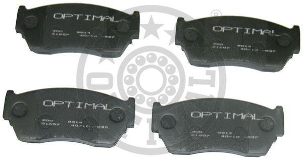 Kit de plaquettes de frein, frein à disque - OPTIMAL - 9814