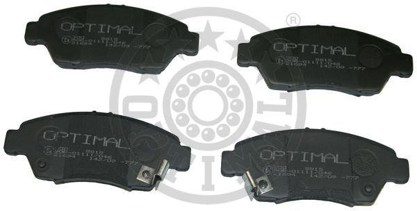 Kit de plaquettes de frein, frein à disque - OPTIMAL - 9815