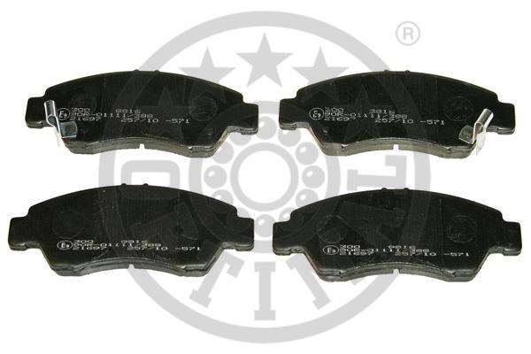 Kit de plaquettes de frein, frein à disque - OPTIMAL - 9816
