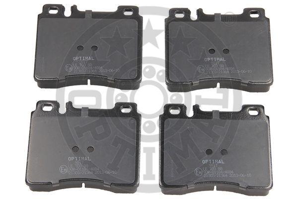 Kit de plaquettes de frein, frein à disque - OPTIMAL - 9817