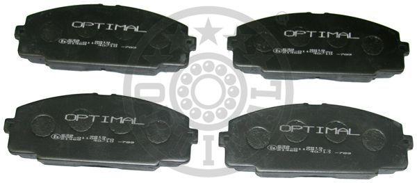 Kit de plaquettes de frein, frein à disque - OPTIMAL - 9818