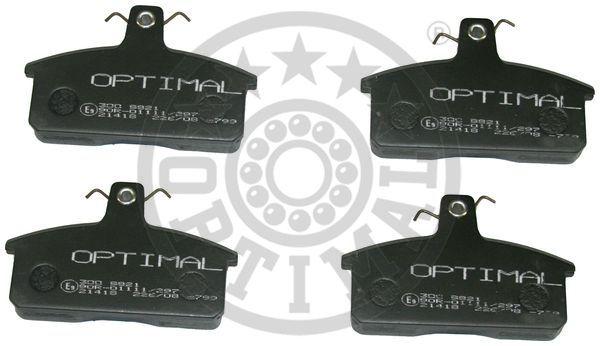 Kit de plaquettes de frein, frein à disque - OPTIMAL - 9821