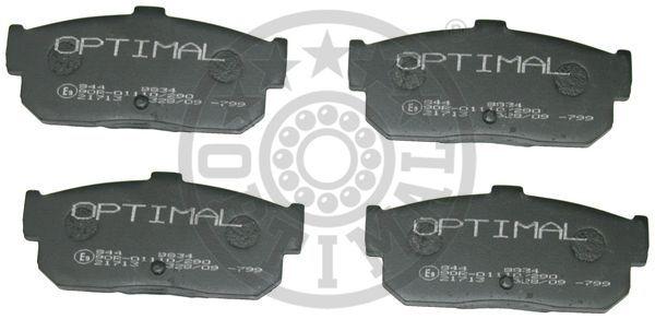 Kit de plaquettes de frein, frein à disque - OPTIMAL - 9834