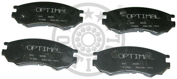 Kit de plaquettes de frein, frein à disque - OPTIMAL - 9835