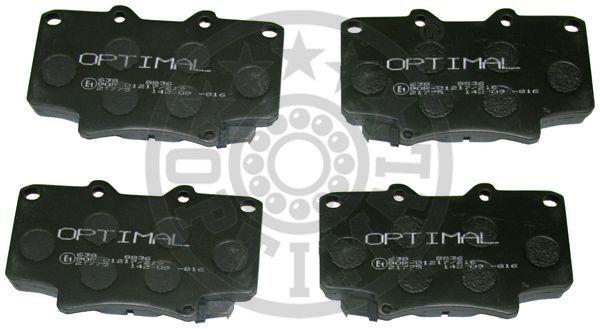 Kit de plaquettes de frein, frein à disque - OPTIMAL - 9836