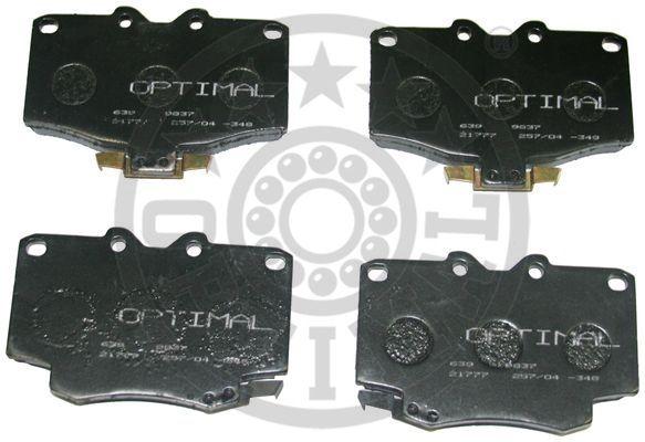 Kit de plaquettes de frein, frein à disque - OPTIMAL - 9837