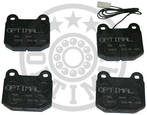 Kit de plaquettes de frein, frein à disque - OPTIMAL - 9844