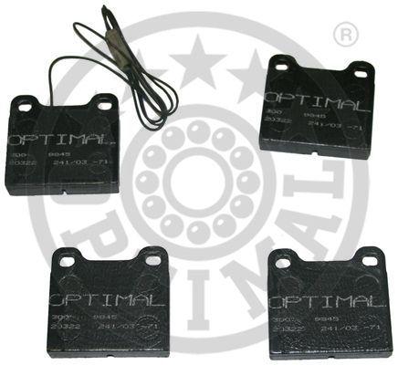 Kit de plaquettes de frein, frein à disque - OPTIMAL - 9845