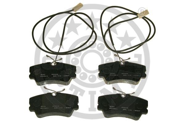 Kit de plaquettes de frein, frein à disque - OPTIMAL - 9846