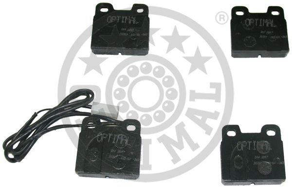 Kit de plaquettes de frein, frein à disque - OPTIMAL - 9847