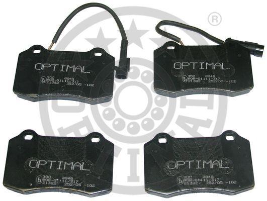 Kit de plaquettes de frein, frein à disque - OPTIMAL - 9848