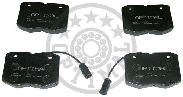 Kit de plaquettes de frein, frein à disque - OPTIMAL - 9850