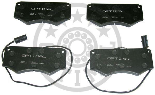 Kit de plaquettes de frein, frein à disque - OPTIMAL - 9853