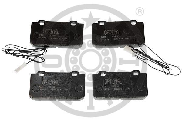 Kit de plaquettes de frein, frein à disque - OPTIMAL - 9854