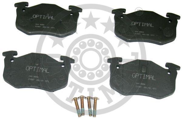 Kit de plaquettes de frein, frein à disque - OPTIMAL - 9858