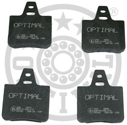 Kit de plaquettes de frein, frein à disque - OPTIMAL - 9859
