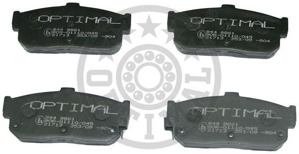Kit de plaquettes de frein, frein à disque - OPTIMAL - 9861