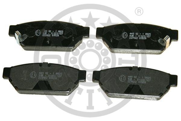 Kit de plaquettes de frein, frein à disque - OPTIMAL - 9862