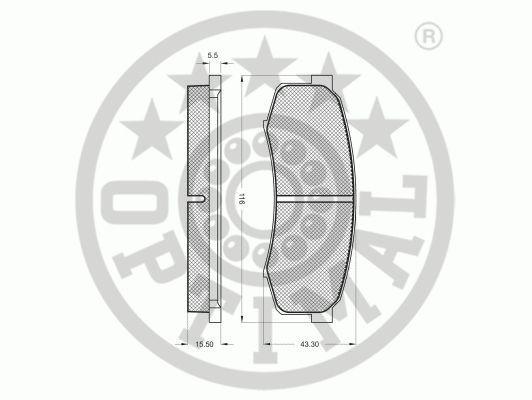 Kit de plaquettes de frein, frein à disque - OPTIMAL - 9863