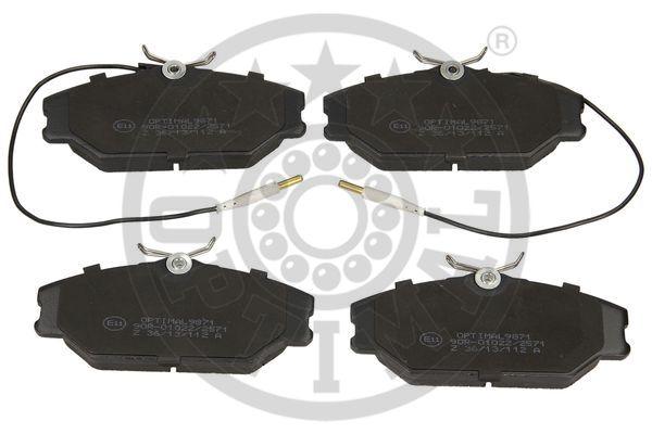 Kit de plaquettes de frein, frein à disque - OPTIMAL - 9871