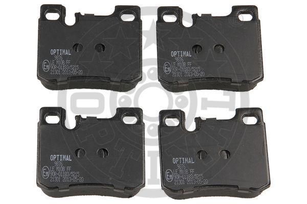 Kit de plaquettes de frein, frein à disque - OPTIMAL - 9876