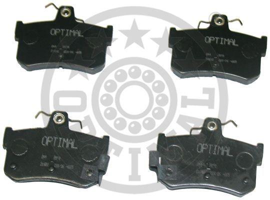 Kit de plaquettes de frein, frein à disque - OPTIMAL - 9878
