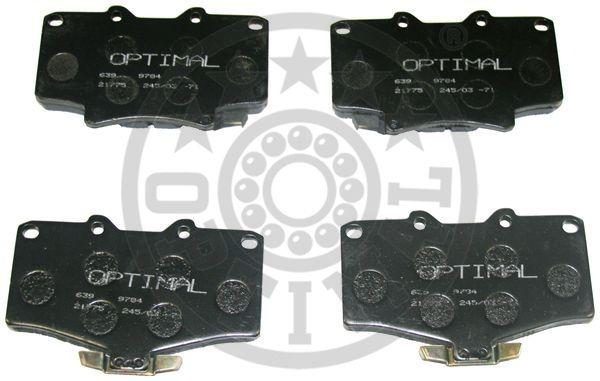Kit de plaquettes de frein, frein à disque - OPTIMAL - 9880