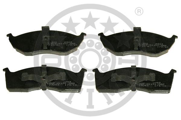 Kit de plaquettes de frein, frein à disque - OPTIMAL - 9883