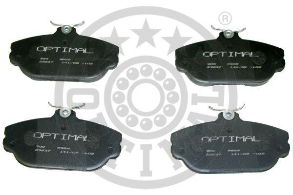Kit de plaquettes de frein, frein à disque - OPTIMAL - 9889