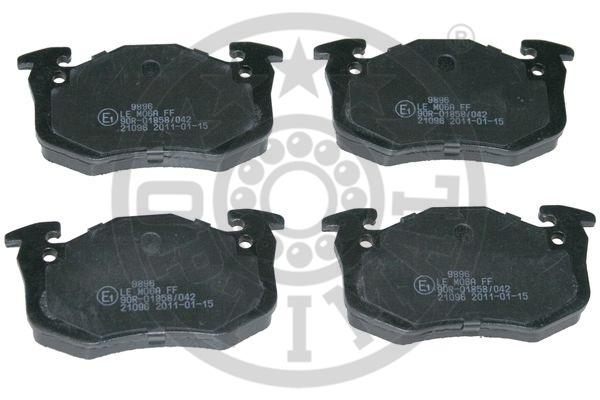 Kit de plaquettes de frein, frein à disque - OPTIMAL - 9896