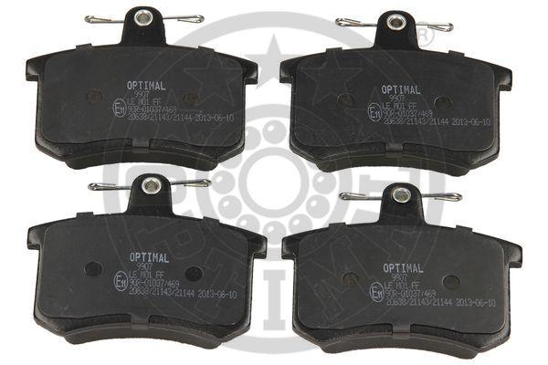 Kit de plaquettes de frein, frein à disque - OPTIMAL - 9907