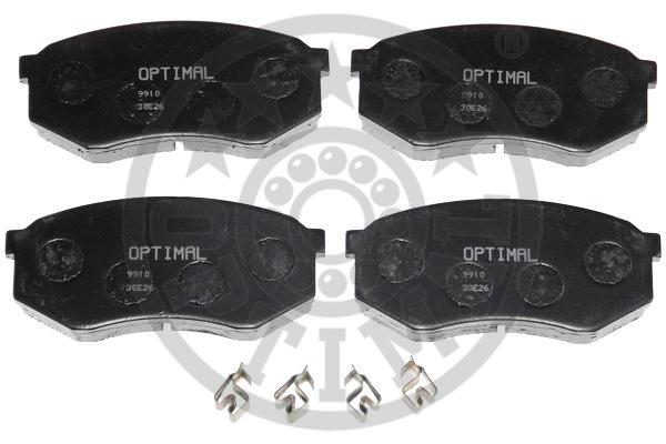 Kit de plaquettes de frein, frein à disque - OPTIMAL - 9910