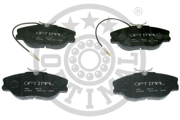 Kit de plaquettes de frein, frein à disque - OPTIMAL - 9913
