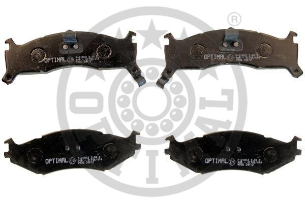 Kit de plaquettes de frein, frein à disque - OPTIMAL - 9938