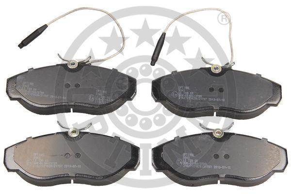 Kit de plaquettes de frein, frein à disque - OPTIMAL - 9943